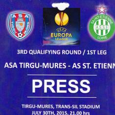 Acreditare meci fotbal ASA TIRGU MURES - AS ST. ETIENNE 30.07.2015 Europa League - Bilet meci