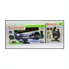 Set microscop si telescop pentru copii - Jocuri Stiinte