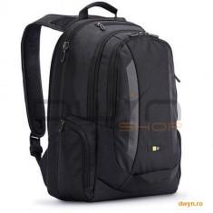 Rucsac laptop 15.6' Case Logic, buzunar intern tableta, 2 buzunare frontale, 2 buzunare laterale, ny - Geanta laptop Case Logic, Nailon, Negru