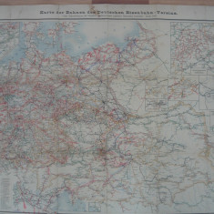 Harta Cailor Ferate Germane ( antebelica )