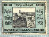 A1917 BANCNOTA NOTGELD- AUSTRIA-50 HELLER - 1920 -SERIA FARA -starea se vede