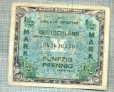A1855 BANCNOTA- GERMANIA OCUPATIE ALIATA-1/2 MARK -1944 -SERIA-starea se vede