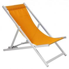 Scaun pliant 5 pozitii pentru plaja MN019580 culoare orange Raki