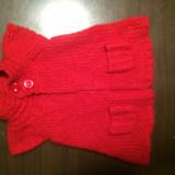 Jacheta lana Next, noua, pt. 2-3 ani, Marime: 30, Culoare: Rosu