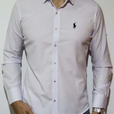 Camasa logo Polo - camasa slim fit camasa alba camasa camasa barbat cod 119 - Camasa barbati, Marime: S, M, XL, Culoare: Din imagine, Maneca lunga