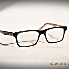 Rame de ochelari ray ban RB5278 negru cu print pe interior - Rama ochelari Ray Ban, Unisex, Dreptunghiulare, Plastic, Rama intreaga