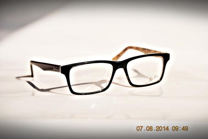 Rame de ochelari ray ban RB5278  negru cu print pe interior foto mare