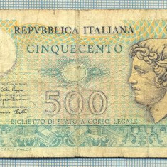 A1861 BANCNOTA - ITALIA- 500 LIRE -1974-79-SERIA489791-starea se vede