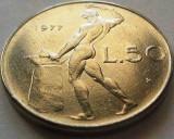 Moneda 50 Lire - ITALIA, anul 1977 *cod 1348 a.UNC, Europa