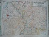 Harta teatrului de operatiuni Franco- Belgo- German