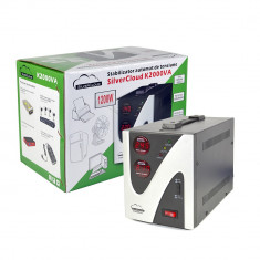 Aproape nou: Stabilizator de tensiune SilverCloud 2000VA 1200W - Stabilizator tensiune