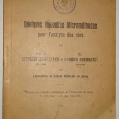 Micrometode pentru analiza vinurilor - in lb. franceza