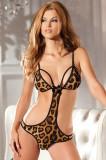 Lenjerie Lady Lust Sexy Costum Babydoll Teddy Monokini Body Leopard Underwear, Costumatii