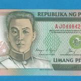 Filipine 5 piso 1991 UNC - bancnota asia