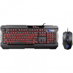 Kit mouse si tastatura gaming ThermalTake Tt eSports Gaming Gear Combo Multi Light