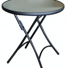 Masa rotunda aluminiu plianta 60cm MN0195210 culoare neagra Raki