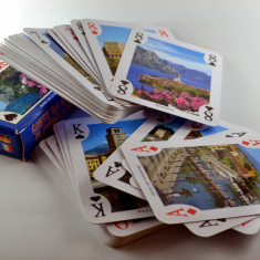 Carti de joc - Poker cu imagini ale lacurilor din Italia ( aproape noi ! ) #356 - Carti poker