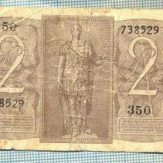 A1852 BANCNOTA- ITALIA -2 LIRE -14.11.1939 -SERIA738529-starea se vede