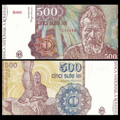 SV * Romania BNR 500 LEI 1991 IANUARIE data mai rara C-tin Brancusi UNC - Bancnota romaneasca