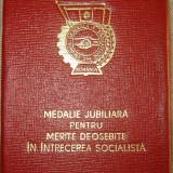 Medalia Pentru Merite Deosebite in Intrecerea Socialista 5 Ani + Cutie - Medalii Romania