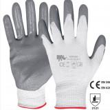 Mănuși de lucru cu strat de nitril, Marime: M, M/L, L/XL, XL, Culoare: Gri