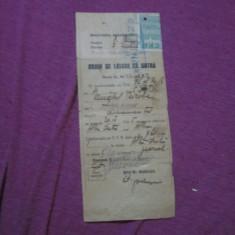 Bilet de lasare la vatra anul 1945 cu timbru de control aplicat c1