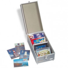 Aluminium koffer pentru postcards - Numis - album clasor