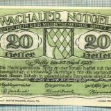 A2102 BANCNOTA NOTGELD- AUSTRIA 20 HELLER -1920-SERIA FARA-starea care se vede - bancnota europa