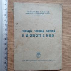 BROSURA COMUNISTA VECHE 1949 - GHEORGHE APOSTOL