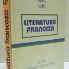DICTIONAR ISTORIC CRITIC - LITERATURA FRANCEZA- BUC.1982