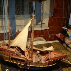 Macheta corabie lemn -vintage -pentru reconditionat! / lucrata manual. - Macheta Navala, 1:100