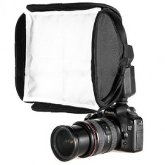 Mini Softbox Difuzor portabil pentru Flash Speedlite 23cm-23cm - Bounce Diffuser Blitz