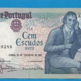 Portugalia 100 escudos 1981 UNC - bancnota europa