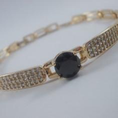 Bratara Luxury Onix placat aur 18k Cod produs: 1610BC002 - Bratara placate cu aur, Femei