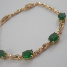 Bratara Luxury Princess Emerald Cod produs: 1610BC004 - Bratara placate cu aur, Femei