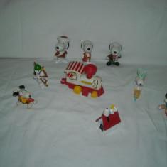 Snoopy - 9 figurine de cauciuc si plastic - Figurina Desene animate, Unisex