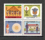 Guyana.1984 100 ani  Asociatia profesorilor  bloc 4  DC.376