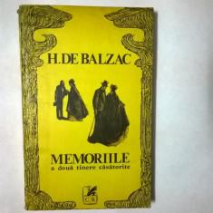 Honore de Balzac – Memoriile a doua tinere casatorite - Roman