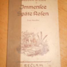IMENSEE * SPATE ROSEN - THEODOR STORM - CARTE IN LIMBA GERMANA - Carte in germana