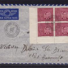 ROMANIA 1941 LP 142 III MI 682/83 MOTA SI MARIN BLOCURI DE 4 TIMBRE CIRCULAT - Timbre Romania, Stampilat