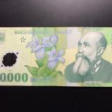 10.000 Lei 2000 (Polymer) Romania, XF, semnatura E. Ghizari - Bancnota romaneasca