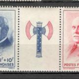 Franta.1943 Sprijin national-streif SF.136.1, Nestampilat