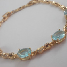Bratara Luxury Princess Aquamarine Cod produs: 1610BC005 - Bratara placate cu aur, Femei