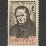Franta.1942 100 ani moarte Stendahl-scriitor SF.129, Nestampilat