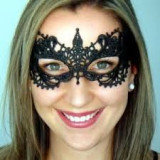 Masca Carnaval Foreplay Adult Venetiana Neagra Black Dantela Halloween