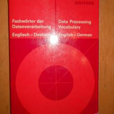 DATA PROCESSING VOCABULARY : ENGLISH - GERMAN ( SIEMENS ) - Carte in germana