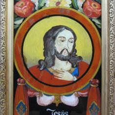 ISUS - Icoana pe sticla