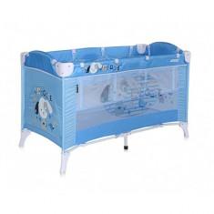 Patut pliant Arena 2 niveluri 120 x 60 cm Blue Doggie Lorelli - Patut pliant bebelusi Lorelli, Verde
