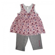 Set rochita si colanti roz-gri 24 luni Calvin Klein
