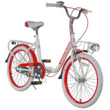 Bicicleta copii pliabila Lambrettina 20 inch Red ATK Bikes